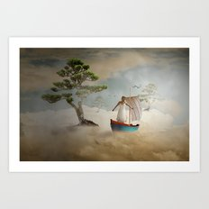 Dreaming high Art Print