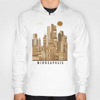 minneapolis Hoodies featuring Minneapolis skyline by bri.buckley
