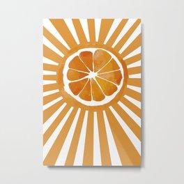 Sunset orange Metal Print