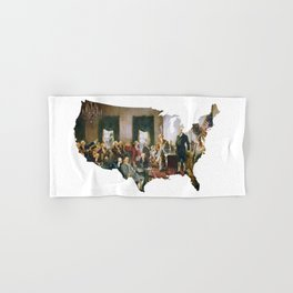 USA MAP The Signing of the Constitution of the United States Hand & Bath Towel