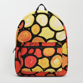 Sunburst -Bright colorful sun by Labor of Love artist Sharon Cummings. Backpack