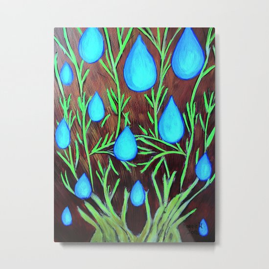 Raindrops/abstract Metal Print