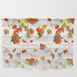 Autumn Leaves Hello Fall! Wall Hanging