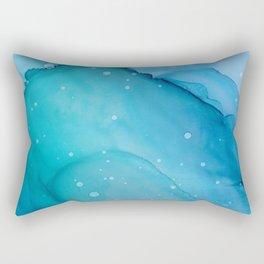 Ocean Spray Fluid ink Abstract Painting Rectangular Pillow