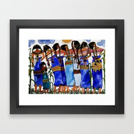 Sometimes we get tired of traditional life Framed Art Print