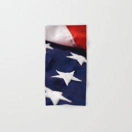 Focus On American Flag Star Hand & Bath Towel