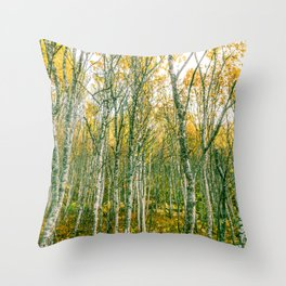 Silver Birches Throw Pillow