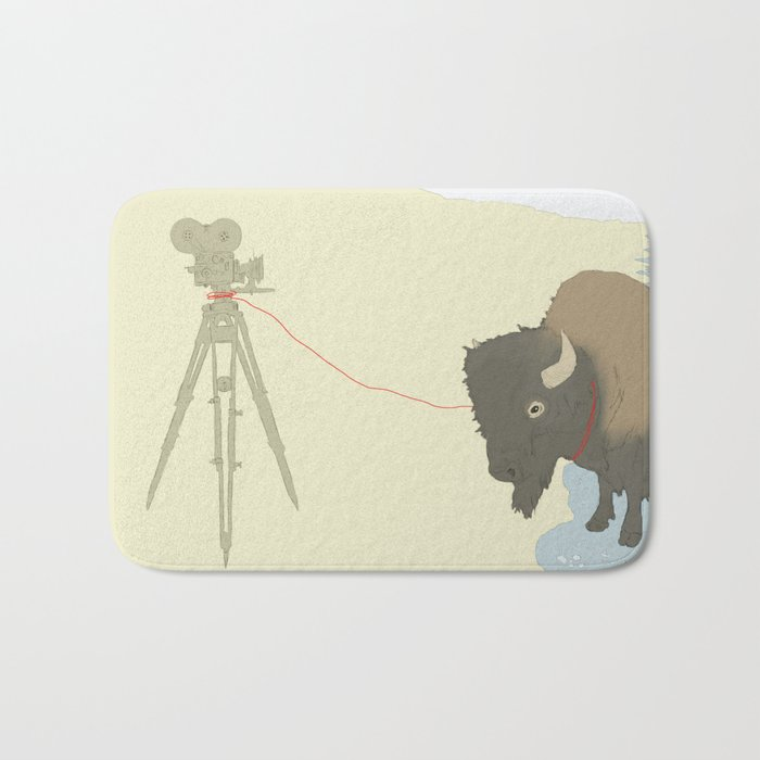 Bison & Camera Bath Mat