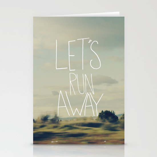 Let's Run Away Stationery Cards