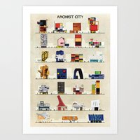 babina Art Prints featuring archist city by federico babina