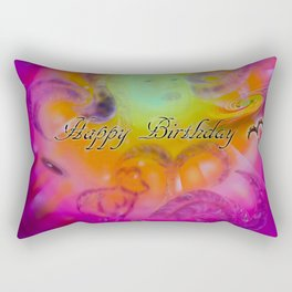 Zodiac sign Aries Happy Birthday 2 Rectangular Pillow