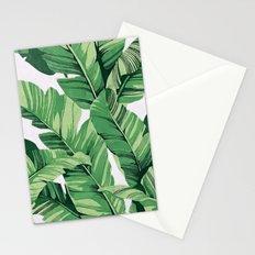 Tropical banana leaves V Stationery Cards