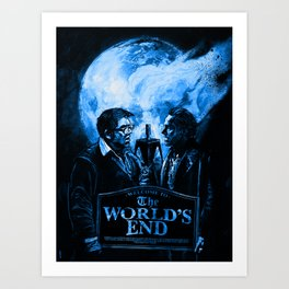 The Worlds End Art Print
