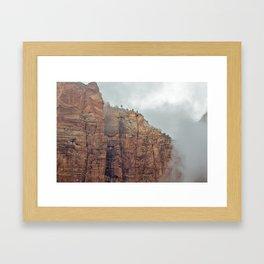 Foggy Zion National Park Framed Art Print