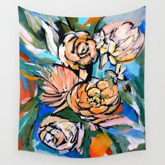 Vibrant Floral Wall Tapestry