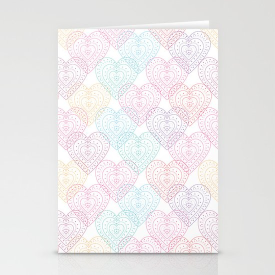 Patterns Of My Heart Stationery Cards