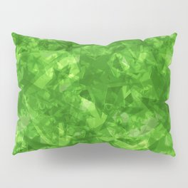 Dark pastel variegated green stars in the projection. Pillow Sham