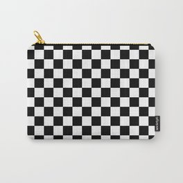 White and Black Checkerboard Carry-All Pouch