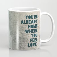 home sweet home Mugs featuring Home by Leah Flores