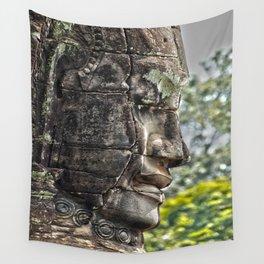 Carved Head Angkor Cambodia Wall Tapestry