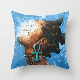 Naturally XXXIII BLUE Throw Pillow