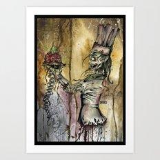 Zombie Pastry Chef Art Print