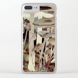 Vintage Mushroom Diagram Clear iPhone Case