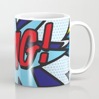 comic book Mugs featuring Comic Book OMG! by Thisisnotme
