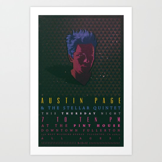 Gig Poster  Art Print