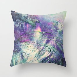 Abstract Purple Abalone Shell Throw Pillow