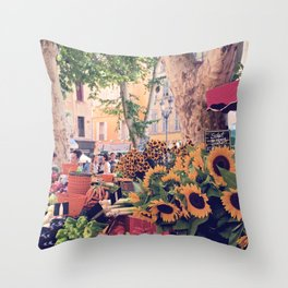 Market Days In France Throw Pillow