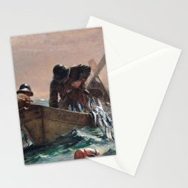Winslow Homer1 - The Herring Net - Digital Remastered Edition Stationery Cards