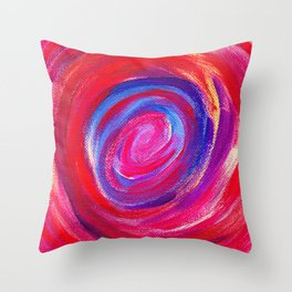 Red Cyclone Throw Pillow