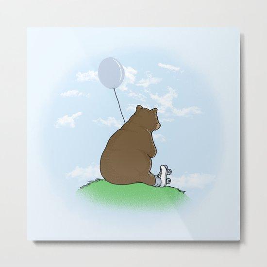 Cloudy the Bear Metal Print
