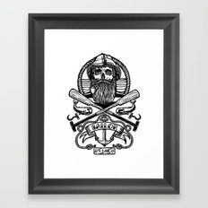 SAILOR SKULL Framed Art Print