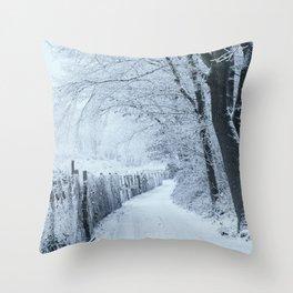 Winter in the Woods III Throw Pillow