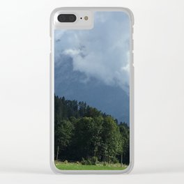 Mountain cloud Clear iPhone Case