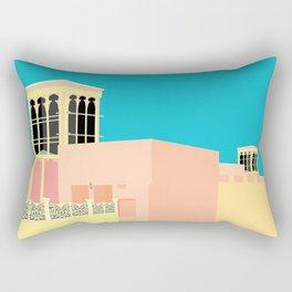 Wind-towers of Bastakiya by Dubai Doodles 007 Rectangular Pillow