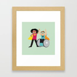We could be heroes Framed Art Print