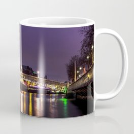 Liffey Bridge Ha'penny Bridge at Night Dublin Ireland Coffee Mug