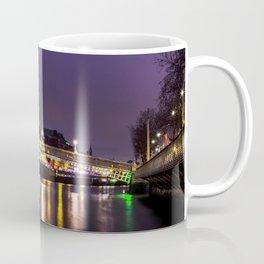 Liffey Bridge Ha'penny Bridge at Night Dublin Ireland Coffee Mug