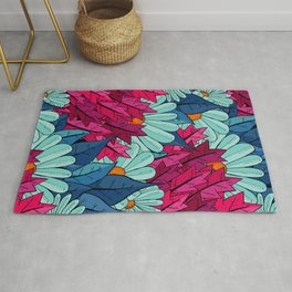 The leaves and the flowers Rug