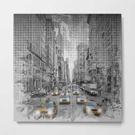 Graphic Art NEW YORK CITY 5th Avenue Traffic Metal Print