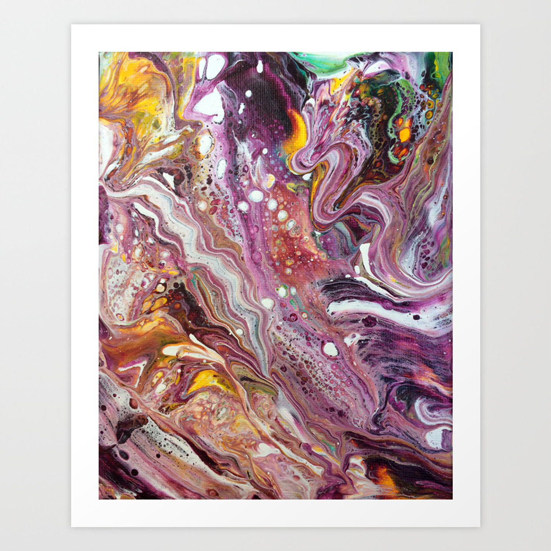 Original Acrylic Painting, Poured Painting, Abstract, Acrylic Flow, Art  Resin, Art Epoxy, Fluid pain Art Print