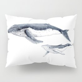 Humpback whale with calf Pillow Sham