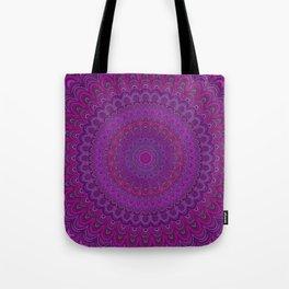 Purple flower mandala Tote Bag