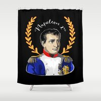 napoleon Shower Curtains featuring Napoleon 1er by Antique Images