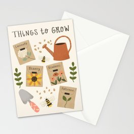 Things to Grow - Garden Seeds Stationery Cards