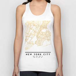 NEW YORK CITY NEW YORK CITY STREET MAP ART Unisex Tank Top