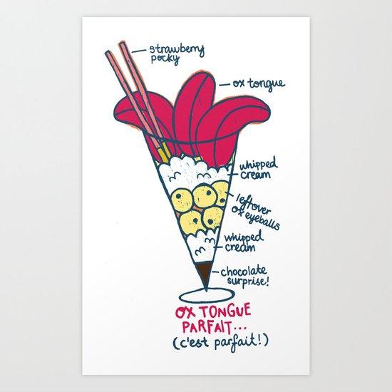 Ox Tongue Parfait Art Print